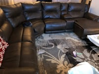 brown leather home theater sofa Manassas Park, 20111