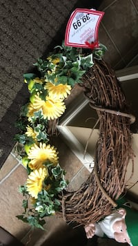 Brown green and yellow floral wreath Sherwood Park, T8H