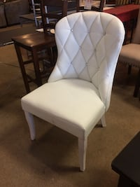 White Accent Chair With Rhinestones  Phoenix, 85018