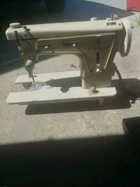 white electric sewing machine