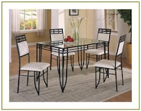 Modern Glass Dining Table and Chairs - NEW Windsor Mill