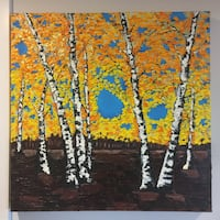 Oil painting Birch Trees