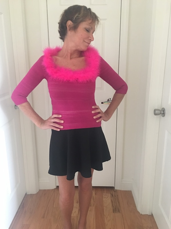 Frederick's Stretchy, Hot Pink , Fun, Flirty and festive Top 9481155f-dcea-4121-99c5-d8a95036d801