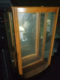 brown wooden framed glass display cabinet Los Angeles, 91331