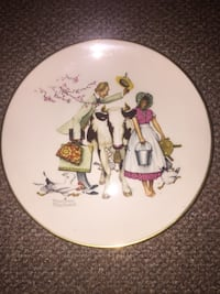 """Authentic Norman Rockwell """"The Traveling Salesman"""" Plate White Plains, 10606"""