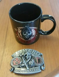 Large Sons of Anarchy Mug and Belt buckle