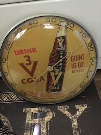 Rare 3 V Cola thermometer  Somerset, 42503