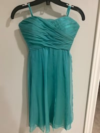 strapless Teal dress  Waterloo, N2K 4G1