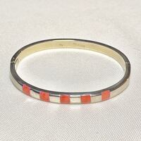 Vintage Sterling Silver Coral Bangle Bracelet Ashburn, 20147