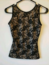 women's black and brown floral sleeveless top Edmonton, T6H