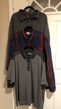 Give me a fair offer - 3 barely used xxl men's collar shirts, long sleeve golf shirt, short sleeve golf shirt & long sleeve dress shirt Ontario, 91761