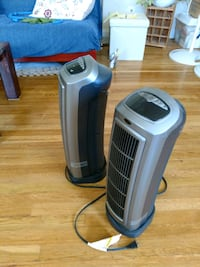 2 Lasko gray and black tower heater  Arlington, 22204