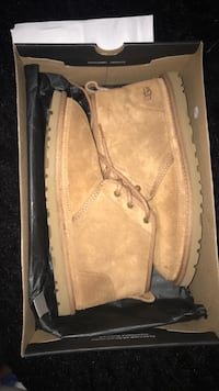 pair of brown Timberland work boots in box Oxnard, 93036