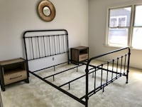 Queen bed and two night stands without mattress set.  Atlanta