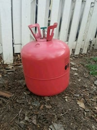Empty helium tank for scrap or refill