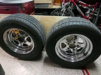 Pair of wheels 5 on 4.75 bolt pattern 245/60/15 tires  Martinsburg