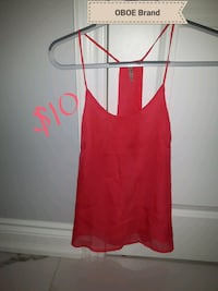 OBOE Brand- Tank Blouse sleeveless size small double lined  Toronto, M6B 2A2