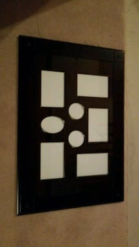 black wooden photo collage frame