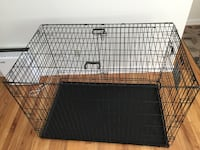 Black metal folding dog crate 2316 mi