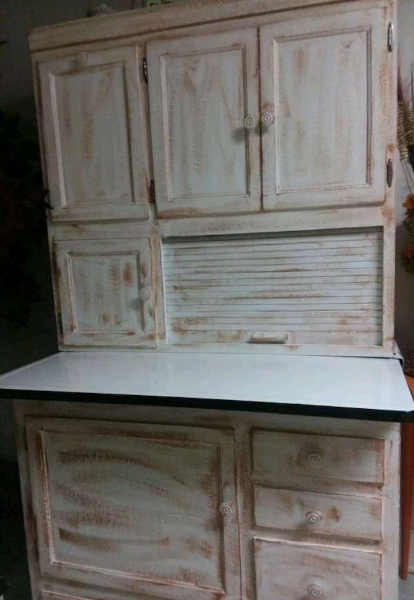Used Antique Hoosier Cabinet With Flour