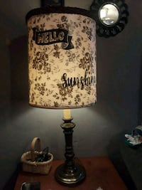 Vintage☆ one of a kind tall table lamp!