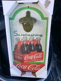 Wall coca cola bottle opener vintage style
