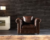 New Brown Leather Chesterfield chair Tufted  Baltimore