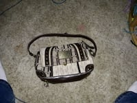 black and white leather handbag Moorhead, 56560