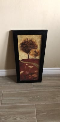 black wooden framed painting of flowers Pickering, L1V 3P3