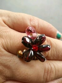 silver and red gemstone ring Altamonte Springs, 32714