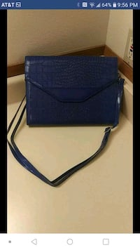 197628f53206 Used blue leather sling bag for sale in Puyallup - letgo