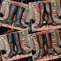 black and red leather gloves 2056 mi
