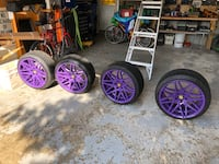 High performance tires and rims( used for 1 summer season)