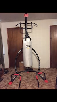 80lb Everlast heavy punching bag W/Stand College Station