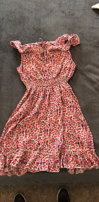 women's red and white floral dress Indio, 92203