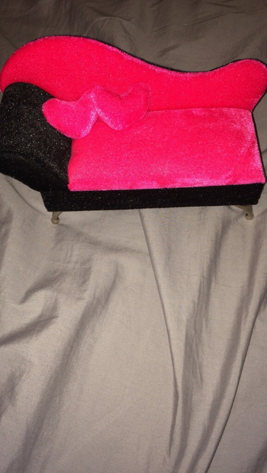 pink and black velvet jewelry box - Langley