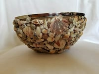 Shell covered bowl