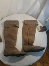 Women's Boots Brown Suede Leather Slush Puppies London, N5V 2A5