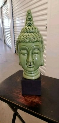 green Gautama Buddha head ceramic figurine Mississauga, L5B