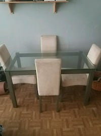 rectangular glass top table with six chairs dining set Belvedere, DA17 5BZ