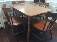 brown wooden dining table set Glendale, 91214