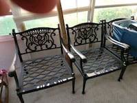 two black metal framed armchairs Parma Heights, 44130