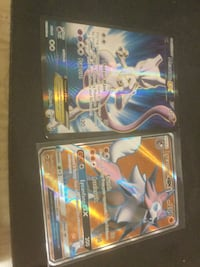 Ex and Gx Mew and Lycanroc pokemon cards rare