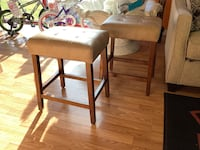 "Pair of 23"" Brown Saddle Stools  Virginia Beach, 23462"