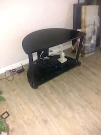 black wooden table with black metal base Clearwater, 33764