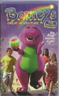 vhs Barney's Great Adventure The First Movie  rare HTF Clamshell Purple Dinosaur Newmarket
