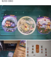 Assorted winnie the pooh calendar plates and 3 3D plates Arden, 28704
