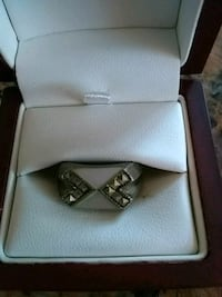 silver diamond ring with box College Park, 20740