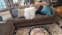 Tan Microfiber Chaise Sectional Sofa  Rockville, 20850