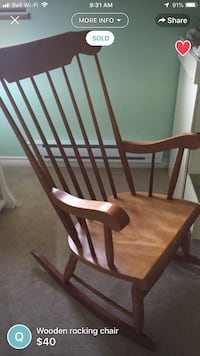 brown wooden windsor rocking chair Vancouver, V5P